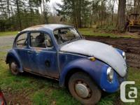 Make Volkswagen Model Beetle Year 1969 Colour Blue kms