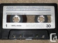 Audio Cassette Tape of 14 samples copied from a 33 rpm