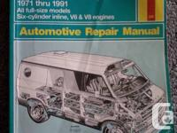 1971-1991 Dodge & Plymouth Vans Haynes Service Manual.