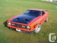 1971 Mustang Mach 1 429 CJ electric motor ram air,