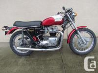 1971 T120R Classic Motorcycle Currently For Sale $10995