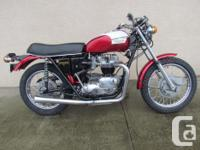 Make Triumph 1971 T120R Classic Motorcycle Currently