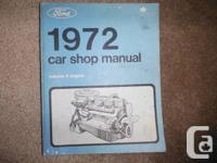 """1972 Ford Car Volume II Engine Shop Manual""  In Volume"