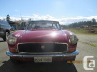 Make MG Colour red Trans Manual kms 60000 1972 mgb