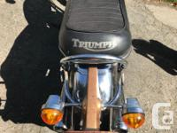 Make Triumph Model Bonneville Year 1972 kms 15352 1972