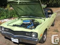Make Dodge Model Dart Year 1973 Colour Meadow Green