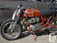 11973 Honda CB 350 Four Has 400cc Honda Four motor as