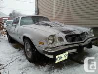 Make. Chevrolet. Version. Camaro. Year. 1974. Colour.