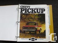 1974 Chevrolet light truck dealer sales album.Has name