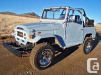 Selling my 1974 Toyota FJ40. The truck has 72405