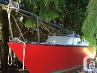 1975 26 ft racing  sailboat.....