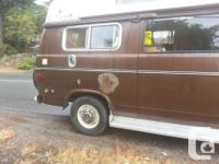 1975 Chevy camper van, about 80,000 miles, runs quite