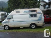1975 Dodge B200 camper van. Good running vehicle. 318