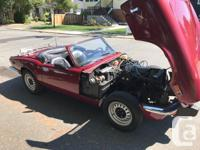 Make Triumph Model Spitfire Year 1975 Colour Red kms