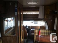 '76 Chevy Okanagan 21' class c motorhome for sale!