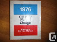 """1976 Chrysler Plymouth Dodge Electrical Service"