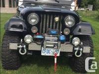 Make Jeep Model Cj7 Year 1976 Colour Black kms 80000