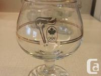 Gold Trim Beer /Wine glasses The 1976 Summer Olympics,