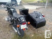 1977 BMW R-100 S with side car 1000 cc Kept indoors for