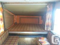 1977 bonair tent trailer, 12ft, 3 way fridge, furnace,