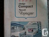 1977 Dodge or Plymouth Vans official Service Manual.