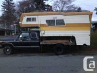 1977 ford f250 supercab camper special with a dually
