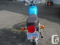 Make Honda Year 1977 kms 5400 A very fine example of a