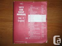 """1977 Ford Automobile Shop Manual"" Quantity 2- Engine."