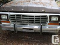 1978-79 , Ford F100-F350 Front Bumper Guards, Pair,