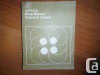 """1978 Ford Vehicle Shop Manual- Quantity 2 Engine""."