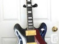 Vintage Gibson ES-347. Jet Black. Production year 1978.