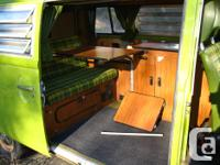 Sage Green 1978 Westfalia. Excellent motor. Been across