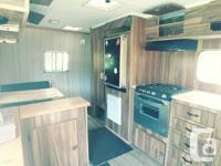 16ft U-built registered. 3 way fridge, stove/oven,