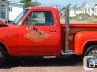 Make. Dodge. Design. D150. Year. 1979. Colour. Red.