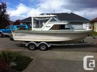 1979, 21 Foot  Fibreform Boat -Rebuilt inline six