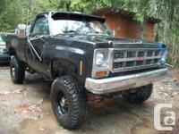 I am marketing my 1979 GMC 4x4 vehicle, it is only a