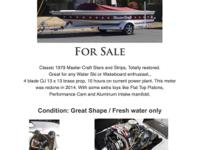 For Sale Classic 1979 Master Craft Stars and Strips,
