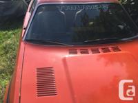 Make Triumph Model TR7 Year 1979 Colour ORANGE kms