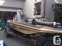 1980 Cajun Brat fiberglass bass boat. Fantastic shape.
