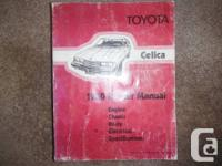 1980 Toyota Celica | Factory Repair Manual  Celica ST,