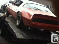 Hi there I'm selling my 1980 trans am WS6 package which