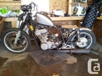 1980 Yamaha xs850 Bobber Project. - Carbs have been