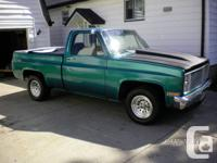 Selling my 81 gmc shortbox custom pick up. Has 455 olds