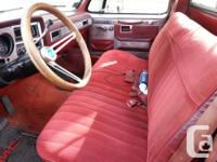 Make GMC Model 1500 Year 1981 Colour Red kms 200000