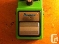 This is an original Ibanez tube screamer from 1981.
