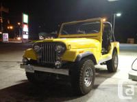 1981 Jeep CJ7 4X4 automatic with a V8 304. Everything