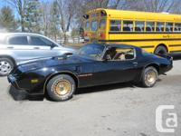 1981 Trans Am, T-Tops, WS6 Suspension including 4 wheel