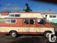 Dodge Camper Van For Sale V8 Engine Lots Of Power And