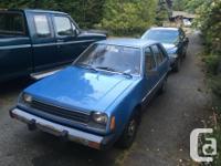 Make Dodge Model Colt Year 1982 Colour Blue kms 175000