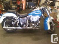 4 speed belt drive, completely restored motorcycle,